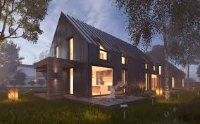100 Modern Hiuse Vray Night Scene Rendering House