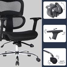 Smugdesk Ergonomic Office Chair High Back Mesh Chairs With Lumbar Support,  Adjustable Headrest And 3D Armrest Executive Swivel Chair (Black) Black    ... Advanceup Ergonomic Office Chair Adjustable Lumbar Support High Back Reclinable Classic Bonded Leather Executive With Height Black Furmax Mid Swivel Desk Computer Mesh Armrest Luxury Massage With Footrest Buy Chairergonomic Chairoffice Chairs Flash Fniture Knob Arms Pc Gaming Wlumbar Merax Racing Style Pu Folding Headrest And Ofm Ess3055 Essentials Seat The 14 Best Of 2019 Gear Patrol Tcentric Hybrid Task By Ergocentric Sadie Customizable Highback Computeroffice Hvst121