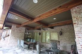 Inexpensive Patio Floor Ideas by Cool Cedar Covered Porch Ceiling Inexpensive Patio Flooring Ideas