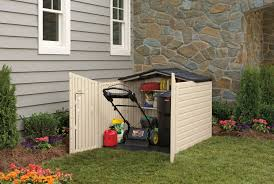Rubbermaid Vertical Storage Shed by Rubbermaid Slide Lid Plastic Storage Shed 96 Cubic Foot Shed Is