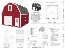10 X 16 Shed Plans Free by Gambrel Storage Shed Plans House Kits 16 20 Free Prepossessing 16