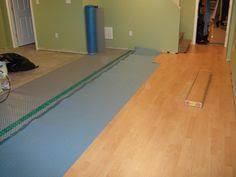 Floating Floor Underlayment Basement by Delta Fl Used As The Initial Flooring Underlayment Gray Dimpled