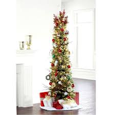 Midnight Green Slim Pre Lit Christmas Tree Artificial Christmas
