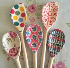 Black Wooden Spoon And Fork Wall Decor by Decoupage Wooden Spoons Gift Baker Vintage Emma Bridgewater