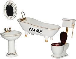 porzellan badezimmer set im maßstab 1 12 wc waschbecken