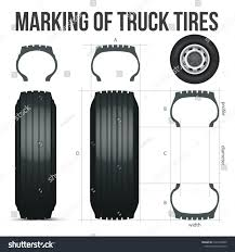 100 Truck Tire Size Marking S Guide Nomenclature Stock Vector Royalty