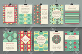 Set Of Creative Vintage Card Templates Best Hand Made Design For Poster Placard