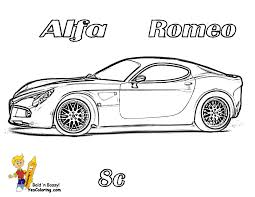 Car Coloring Sheet Of The Alfa Romeo Side View At YesColoring