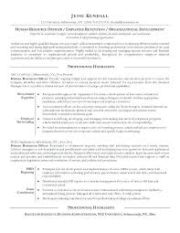 Sample Resume Human Resources Recruitment With Hr Executive Example Officer Free