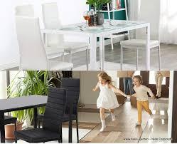 6 x pu leder stoff esszimmer stühle schwarz oder weiß