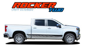 100 Truck Door Decals ROCKER 2 Silverado Side Stripes Silverado Silverado Graphics