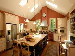 kitchen track lighting vaulted ceiling recessed lights photo