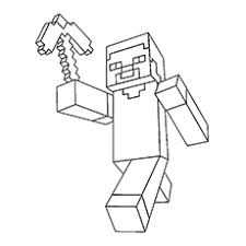 Minecraft Coloring Pages Steve 0