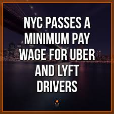 Minimum Wage For Uber And Lyft Drivers In New York City
