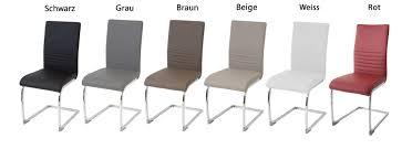 esszimmerstühle burano farbe wählbar freischwinger schwing