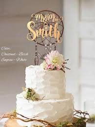 Boho Cake Topper Wedding Mr And Mrs Custom Surname Personalized 3D