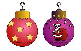 Draw Vintage Christmas Ornaments Balls