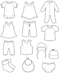 Kids Clothes Clipart Black And White