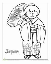 First Grade Holidays Seasons Worksheets Japanese Traditional Clothing Coloring Page