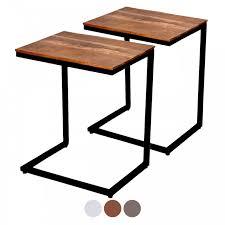 couchtisch 2er set wohnzimmer tisch set beistelltisch atlanta metall gestell altsilber oder schwarz