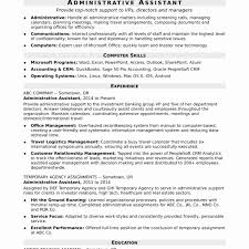 Resume For Administrative Assistant Dunferm Line Reign