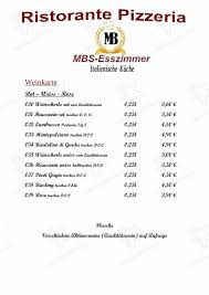 carta restaurante mbs esszimmer gottmadingen gottmadingen