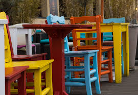 Free Images Coffee Structure Chair Seating Seat City Spring Red Color Patio Drink Colorful Yellow Espresso Modern Public Space Sit