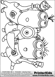 Purple Minion Coloring Pages