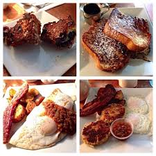 Grilled blueberry muffin Portuguese sweet bread French toast