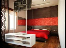 Bedroom Design Red And Black Walls Decor