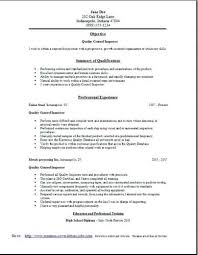 Welding And Inspector Resume Format Quality