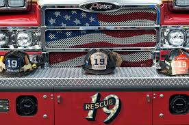 Black And Red Pierce Truck Bumper With Rescue 19 Decal Free Image ...