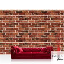 vlies fototapete no 1055 steinwand tapete steinmauer ziegelwand ziegel steine stein steinoptik rot