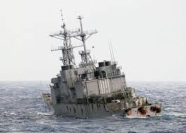 Uss America Sinking Location by Of Uss Stump Dd 978