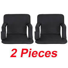 Zeny Set Of 2 Portable Stadium Seat Chair, Reclining Seat Black Bleachers 5  Positions Recling Stadium Seat Portable Strong Padded Hitorhike For Bleachers Or Benches Chair With Cushion Back And Armrest Support Pnic Time Oniva Navy Recreation Recliner Fayetteville Multiuse Adjustable Rio Bleacher Boss Pal Green Folding Armrests 7 Best Seats With Arms 2017 The 5 Ranked Product Reviews Sportneer Chairs 1 Pack Black Wide 6 Positions Carry Straps By Hecomplete Khomo Gear And Bench Soft Sided