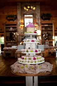 5 Tier Rustic Cupcake Stand Wedding Vintage Cup Cake