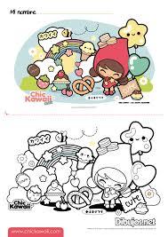 Ratones Kawaii Para Colorear Página Para Colorear Ratón Adorable