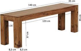 wohnling esszimmer sitzbank massiv holz sheesham 140 x 45 x 35 cm design holz bank natur produkt küchenbank landhaus stil dunkel braun bank 3 sitzer