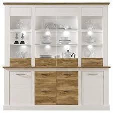 trendteam smart living wohnzimmer highboard schrank toronto 210 x 210 x 42 cm in korpus pinie weiß mit viel stauraum