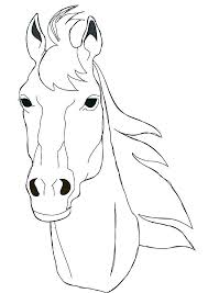 Horse Coloring Pages Realistic Head Page Free Face