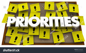 Priorities Important Jobs Tasks Projects Sticky Notes Board 3d Illustration