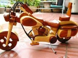 Image Is Loading 18 034 HAND CARVED WOOD ART MODEL MOTORCYCLE