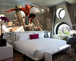 Bedroom 3d Wallpaper Aliexpresscom Beli Superhero Spiderman Dinding Mural Foto Kustom Boy Room