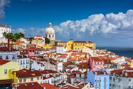 Lisbon Portugal Skyline At Alfama The Oldest District Of City