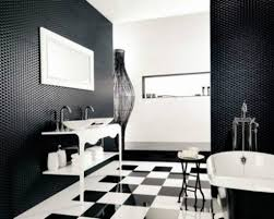 Bathroom: Fancy Black And White Bathroom Interior Design Ideas ... Grey White And Black Small Bathrooms Architectural Design Tub Colors Tile Home Pictures Wall Lowes Blue 32 Good Ideas And Pictures Of Modern Bathroom Tiles Texture Bathroom Designs Ideas For Minimalist Marble One Get All Floor Creative Decoration 20 Exquisite That Unleash The Beauty Interior Pretty Countertop 36 Extraordinary Will Inspire Some Effective Ewdinteriors 47 Flooring