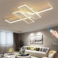 rechteckige led deckenleuchte einfaches wohnzimmer moderne deckenleuchte schlafzimmer aluminium acryl durchgehend dimmbar mit fernbedienung dimmen