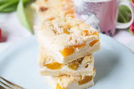 streusel pfirsich quark kuchen der perfekte kuchen zu ostern