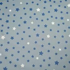 toile coton impermeable au metre tissu en coton enduit etoile gris bleu à 32 50 le mètre