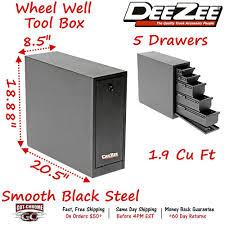100 Truck Wheel Well Tool Box DZ 95D Dee Zee With Drawers Black Steel Full