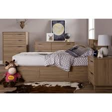 South Shore Furniture Dressers by South Shore Fynn 6 Drawer Rustic Oak Dresser 9067027 The Home Depot